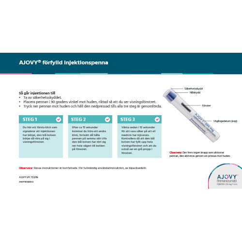 AJOVY® administrationsguide, injektionspenna
